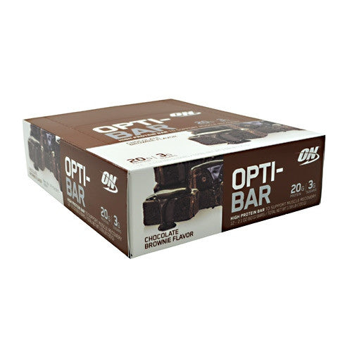 Optimum Nutrition Opti-Bar - Chocolate Brownie - 12 Bars - 748927952834