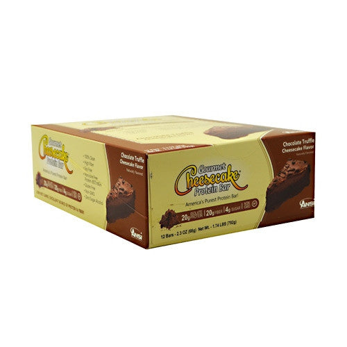 Advanced Nutrient Science INTL Gourmet Cheesecake Protein Bar - Chocolate Cheesecake Flavor - 12 Bars - 689570407541