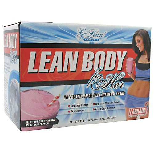 Labrada Nutrition Lean Body for Her - Delicious Strawberry Ice Cream - 20 Packets - 710779112728
