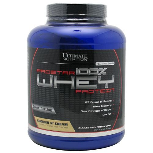 Ultimate Nutrition ProStar Whey Protein - Cookies n Cream - 5.25 lb - 099071001290