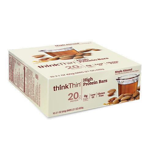 Think Products Think Thin High Protein Bar - Maple Almond - 10 Bars - 753656711973