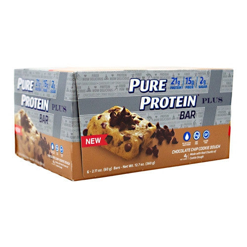 Pure Protein Pure Protein  Plus Bar - Chocolate Chip Cookie Dough - 6 Bars - 749826656656