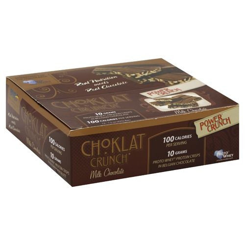 BNRG Choklat Crunch Protein Crisps - Milk Chocolate - 12 Bars - 644225222603