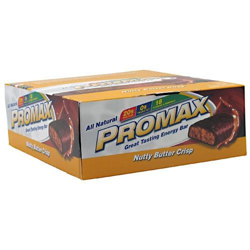 Promax Energy Bar - Nutty Butter Crisp - 12 Bars - 743659128069