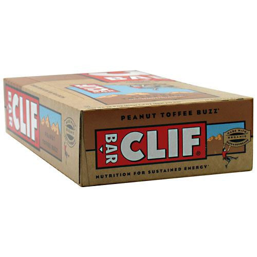 Clif Bar Energy Bar - Peanut Toffee Buzz - 12 Bars - 722252302403
