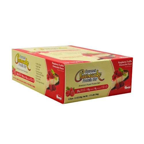 Advanced Nutrient Science INTL Gourmet Cheesecake Protein Bar - Raspberry Truffle Cheesecake Flavor - 12 Bars - 689570408111