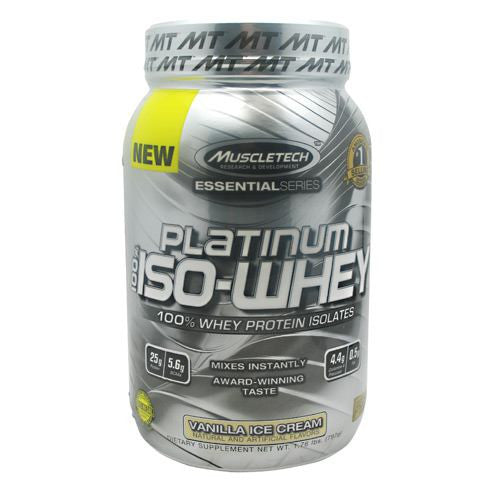 MuscleTech Essential Series 100% Platinum Iso-Whey - Vanilla Ice Cream - 1.79 lb - 631656705447
