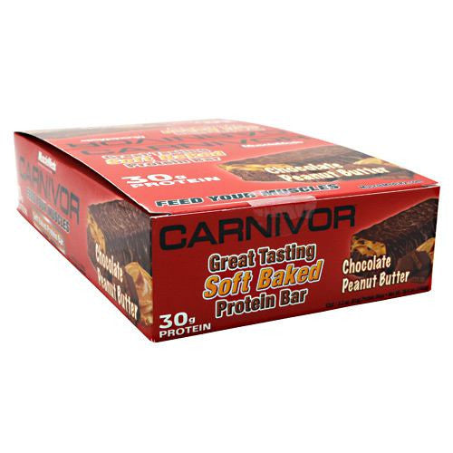 Muscle Meds Carnivor Bars - Chocolate Peanut Butter - 12 Bars - 891597003624