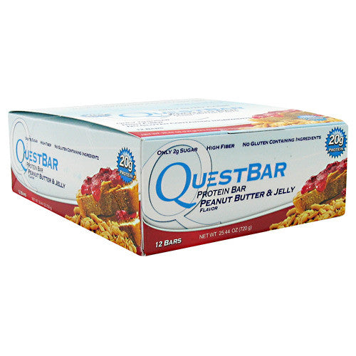 Quest Nutrition Quest Protein Bar - Peanut Butter & Jelly - 12 Bars - 888849000685