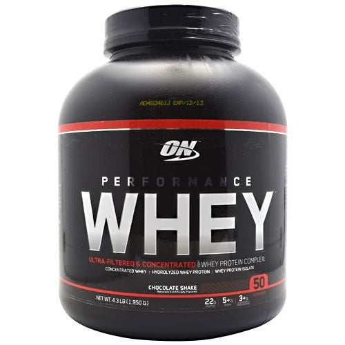 Optimum Nutrition Performance Whey - Chocolate Shake - 4.3 lb - 748927023534