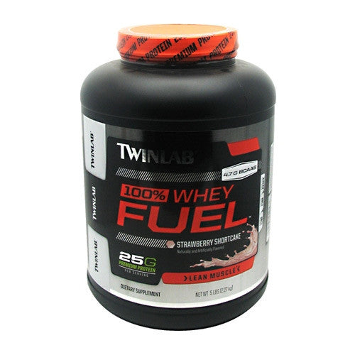 TwinLab 100% Whey Fuel - Strawberry Shortcake - 5 lb - 027434040563