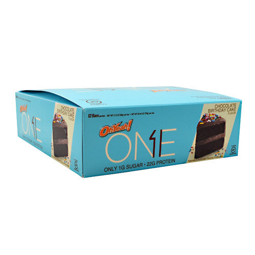 ISS OhYeah! One Bar - Chocolate Birthday Cake - 12 Bars - 788434107587