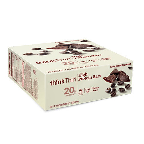 Think Products Think Thin Bar - Chocolate Espresso - 10 Bars - 753656704012