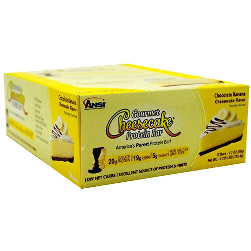 Advanced Nutrient Science INTL Gourmet Cheesecake Protein Bar - Chocolate Banana - 12 Bars - 689570408142
