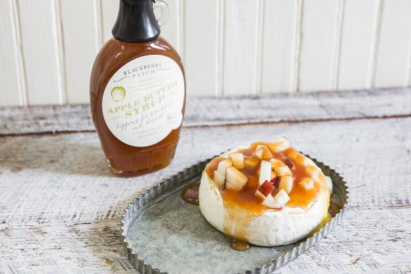Recipe photo of Baked Brie with Apples using Blackberry Patch Premium Apple Butter Syrup