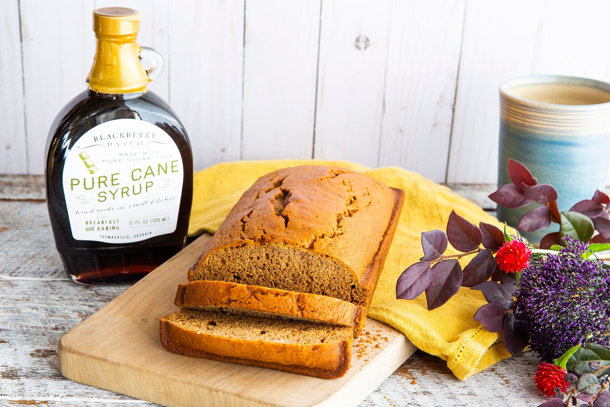 Recipe photo of Cane Syrup Loaf Cake using Blackberry Patch Pure Cane Syrup