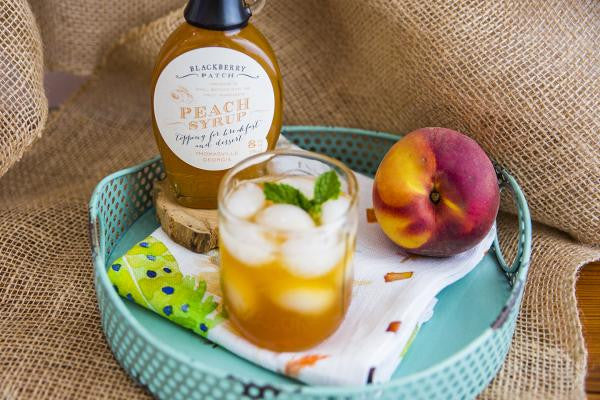 Recipe photo of Peach Iced Tea using Blackberry Patch Premium Peach Syrup
