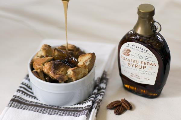 Recipe photo of French Toast Souffle using Blackberry Patch Roasted Pecan Syrup