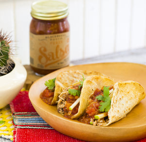 Recipe Photo of Pulled Pork Tacos with Peach Salsa