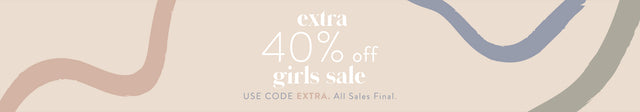 Extra 40% off Girls Sale. Use Code EXTRA. All Sales Final.