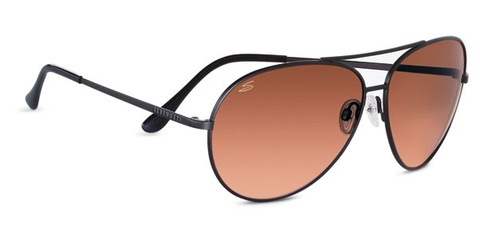 Serengeti Large Aviator 5222 - Drivers Gradient, Matte Black, Non-Polarized, Photochromic Lenses