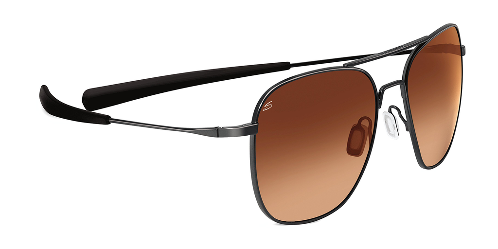 Serengeti Aerial 7977 - Drivers Gradient, Shiny Gunmetal, Non-Polarized, Photochromic Lenses