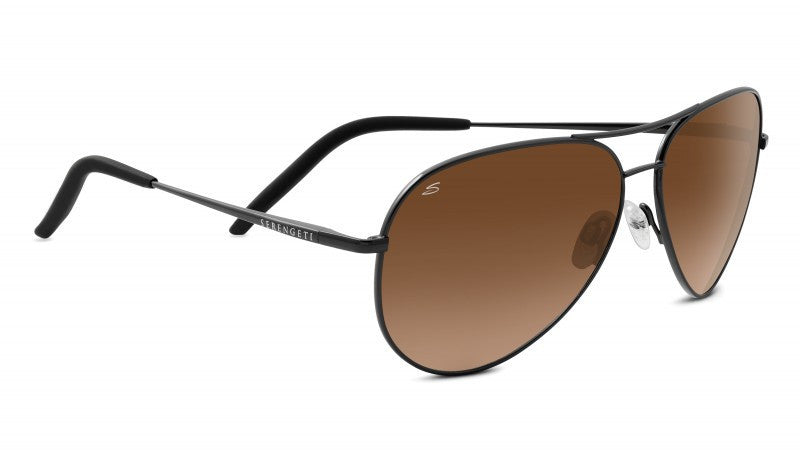 Serengeti Carrara 8453 - Satin Dark Gun, Non Polarized Drivers Gradient, Photochromic Lenses