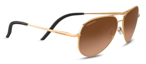 Serengeti Carrara Small 8550 - Shiny Bold Gold, Drivers Gradient Photochromic Lenses