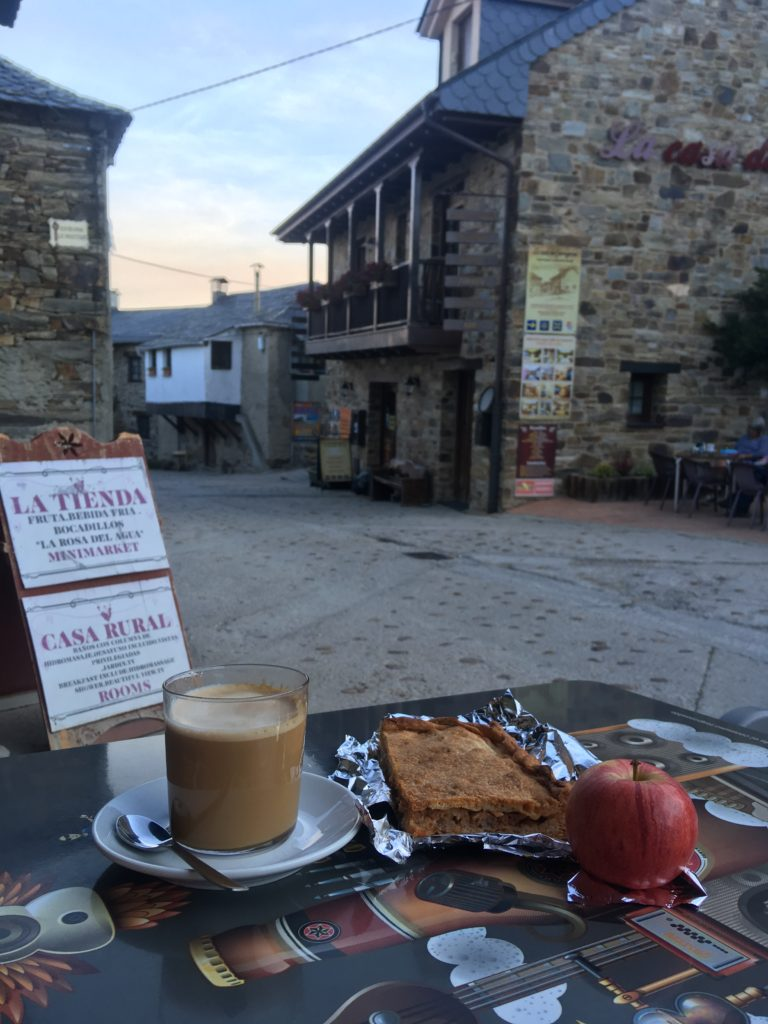 Breakfast along the Camino de Santiago