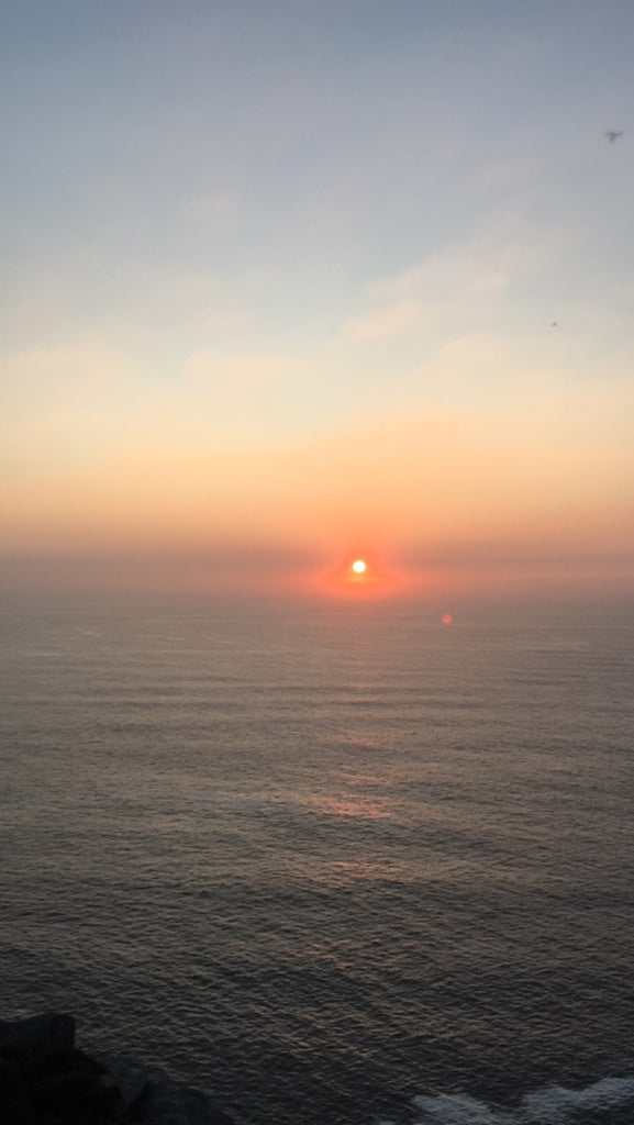 Sunset over the Atlantic Ocean