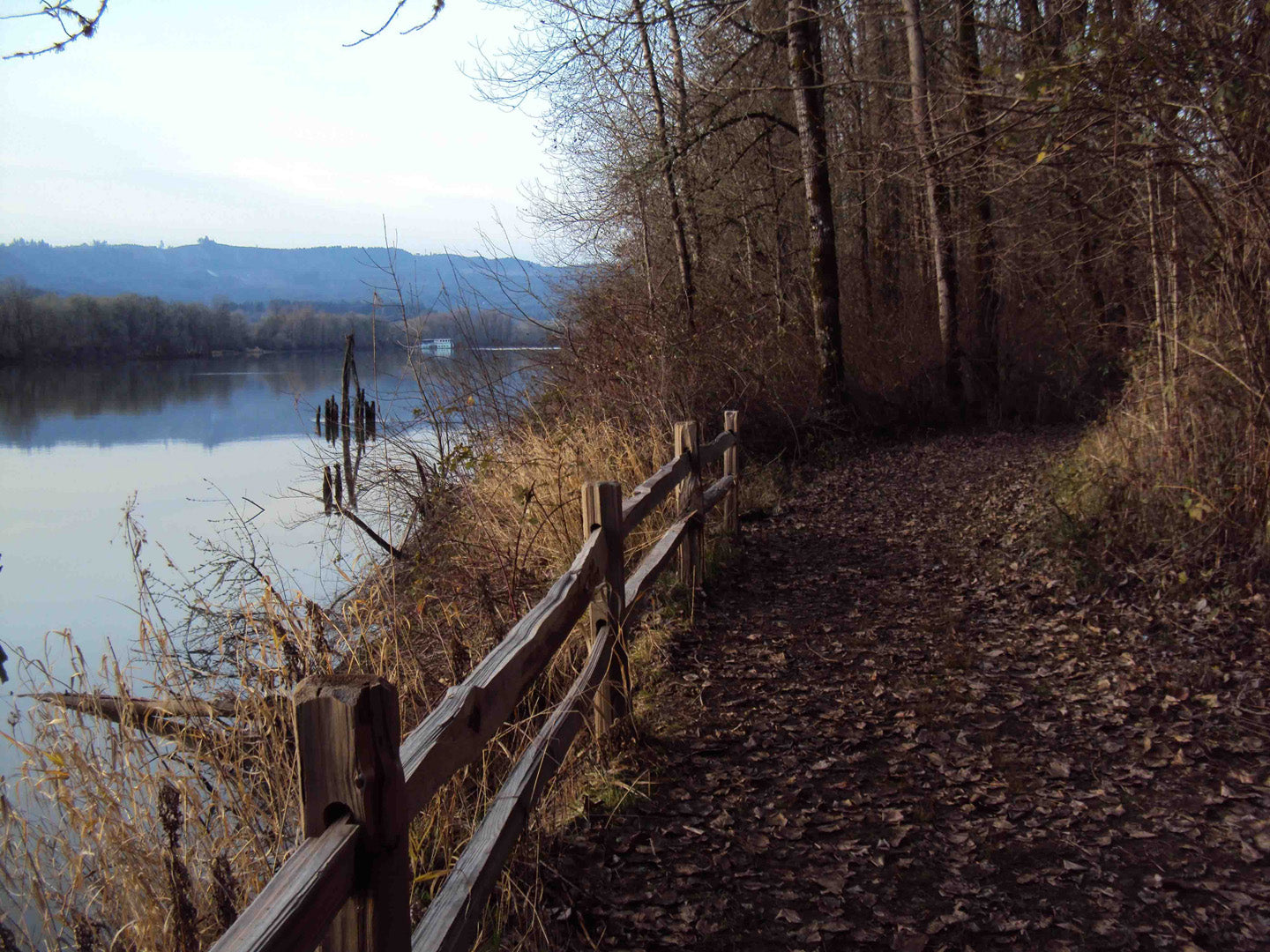 Wapato Access Greenway Trail Multnomah Channel Sauvie Island Oregon