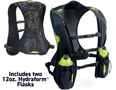 Amphipod PureRun Minimalist Vest with Two Hydraform Flasks