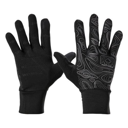 Nathan Men's Hypernight Reflective Running Gloves