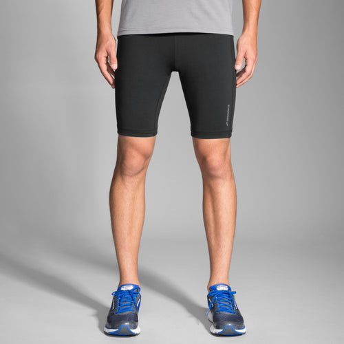 "Brooks Men's Greenligh 9"" Short Tight running shorts"