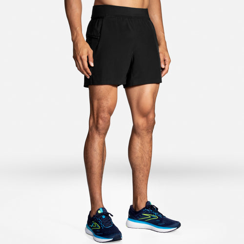 "Brooks Men's Sherpa 5"" 2-in-1 Lined Running Short with pockets"