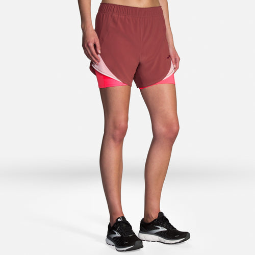 "Brooks Women's Chaser 5"" 2-in-1 Running Short with Built-in Tight Liner"