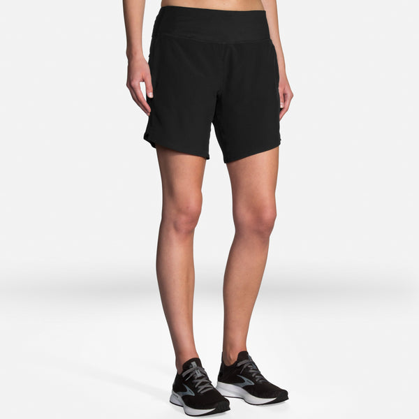 "Brooks Women's Chaser 7"" Inseam Running Shorts with liner"