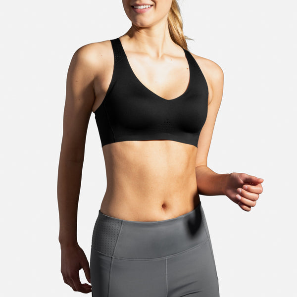 Brooks Dare V-Neck Moderate Support Run bra