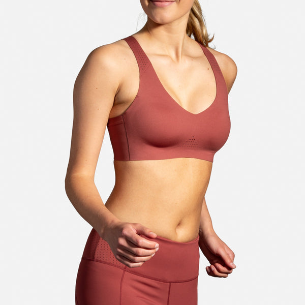 Brooks Dare V Neck Run Bra