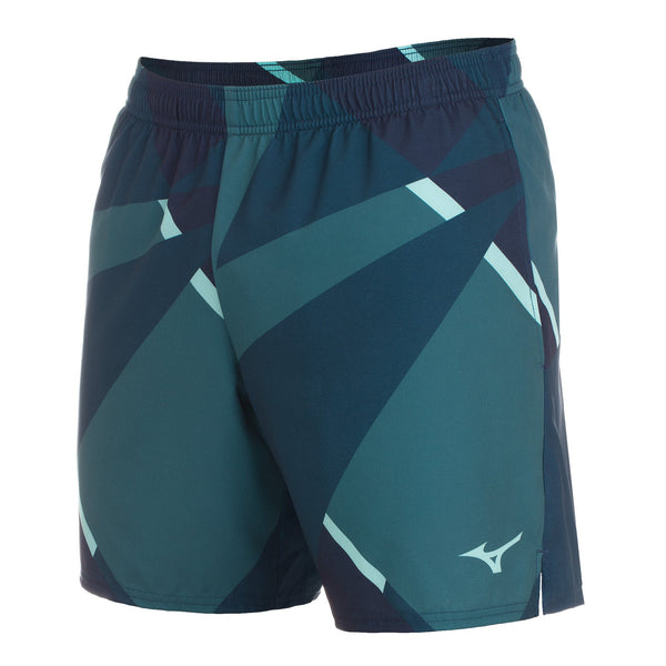 "Mizuno Men's 7"" Geoprint Running Shorts"