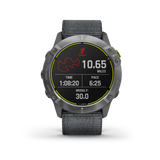 Garmin Enduro - Steel with Gray UltraFit Nylon Band