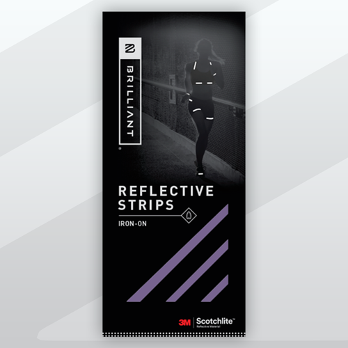 3M Brilliant Iron-On Reflective Strips for Clothing