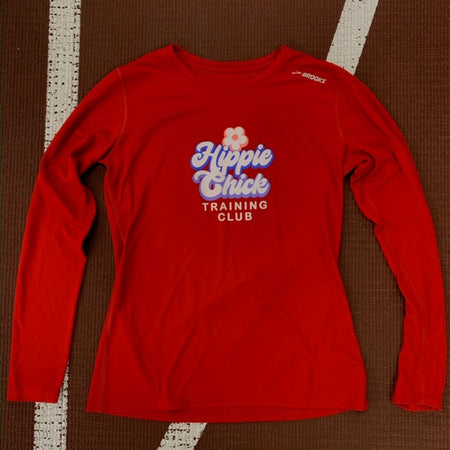 "Brooks Women's Distance Graphic Long Sleeve ""Ugly Holiday Sweater"""