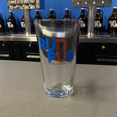 Run Pub Portland Running Co. Pint Beer Glass