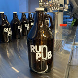 Run Pub PRC Beer Jug Growler 64 oz. glass bottle