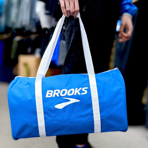 Brooks free with purchase zip gym duffle bag