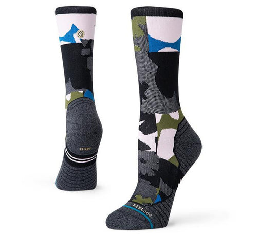 Stance Women's Caught Crew Camo Print Running Socks