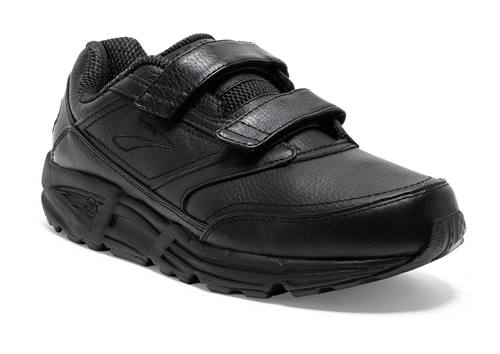Brooks women's addiction walker wide leather walking shoe with velcro straps