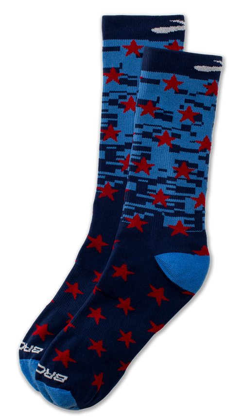 Brooks Stars & Strides Pacesetter crew length running Socks