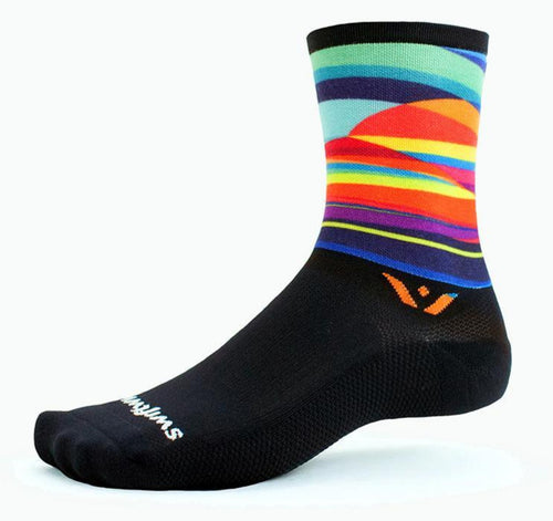 "Swiftwick Vision Six 6"" Crew Running Socks"